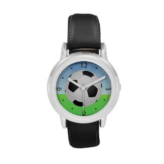 Soccer Ball Sunny Day Wrist Watch