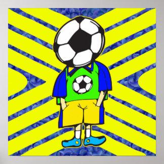 Soccer Ball Team Member Poster
