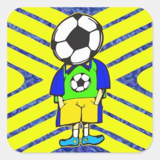 Soccer Ball Team Member Square Sticker