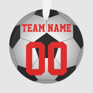 Soccer ball team name personalized ornament