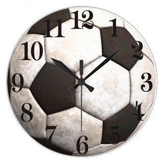 Soccer Ball Team Sports Games Large Clock
