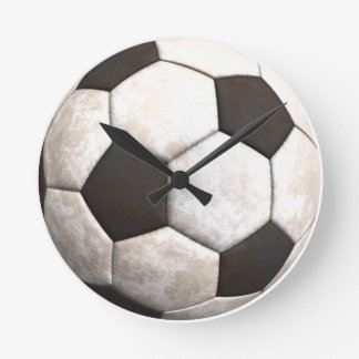 Soccer Ball Team Sports Games Round Clock