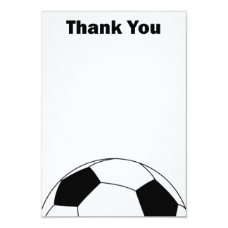 Soccer ball Thank you note cards