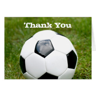 Soccer Ball Thank You Stationery Note Card