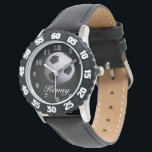 """Soccer Ball Time Wrist Watch<br><div class=""""desc"""">This cool elegant trendy personal watch. It is a easy colorful watch with white numbers. A bright black and white soccer ball on a png file. You can change the text and back ground color to your choice. come&#39;s in 14 kids styles come&#39;s in 13 men&#39;s styles come&#39;s in 15...</div>"""