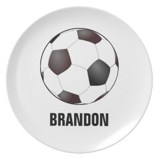Soccer Ball Toddler Plate with Customizable Name
