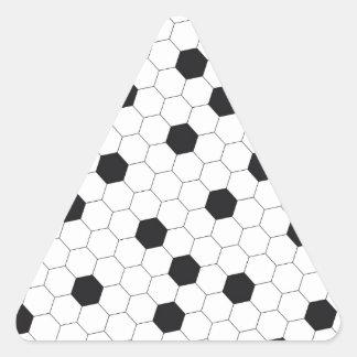 Soccer ball triangle sticker