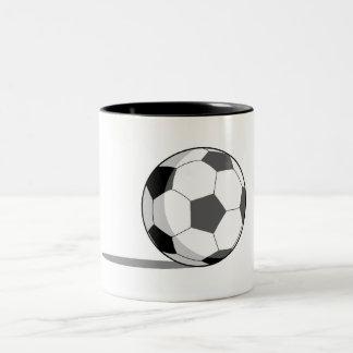 Soccer Ball Two-Tone Coffee Mug