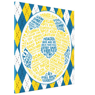 Soccer Ball Typography Box Canvas