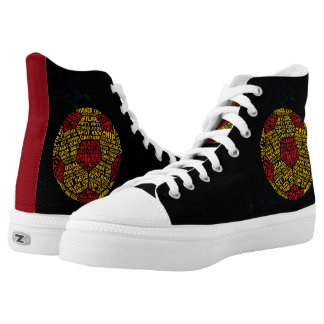 Soccer Ball Typography Sneakers High Top