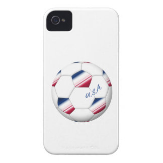 "Soccer ball ""U.S.A."". Ball of Soccer of the USA iPhone 4 Case-Mate Cases"