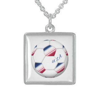 """Soccer ball """"U.S.A."""". Ball of Soccer of the USA Jewelry"""