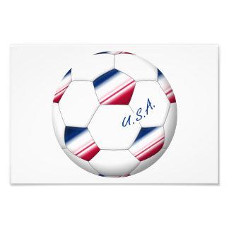 "Soccer ball ""U.S.A."". Balón de Fútbol de E.E.U.U. Arte Fotografico"
