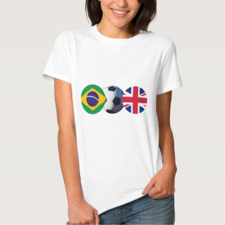 Soccer Ball UK & Brazil Flags The MUSEUM Zazzle T Shirt
