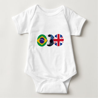 Soccer Ball UK & Brazil Flags The MUSEUM Zazzle Tee Shirt