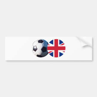 Soccer Ball & UK Flag The MUSEUM Zazzle Bumper Sticker