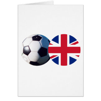 Soccer Ball & UK Flag The MUSEUM Zazzle Card