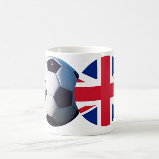 Soccer Ball & UK Flag The MUSEUM Zazzle Coffee Mug