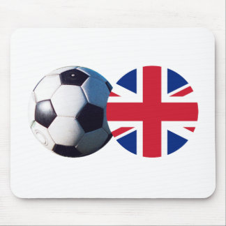Soccer Ball & UK Flag The MUSEUM Zazzle Mouse Pad