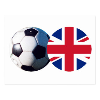 Soccer Ball & UK Flag The MUSEUM Zazzle Postcard