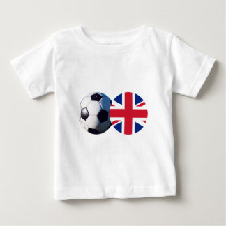 Soccer Ball & UK Flag The MUSEUM Zazzle T-shirt