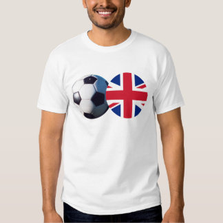 Soccer Ball & UK Flag The MUSEUM Zazzle T Shirt
