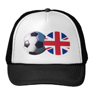 Soccer Ball & UK Flag The MUSEUM Zazzle Trucker Hat