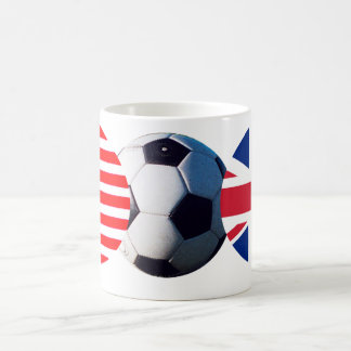 Soccer Ball UK & USA Flags The MUSEUM Zazzle Coffee Mug