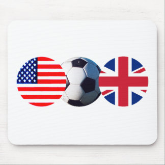 Soccer Ball UK & USA Flags The MUSEUM Zazzle Mouse Pad