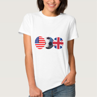 Soccer Ball UK & USA Flags The MUSEUM Zazzle Shirt