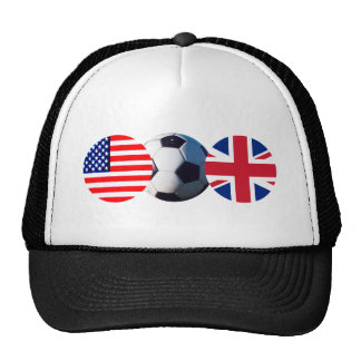 Soccer Ball UK & USA Flags The MUSEUM Zazzle Trucker Hat