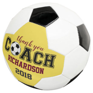 225 & Soccer ball unique custom thank you gift for coach