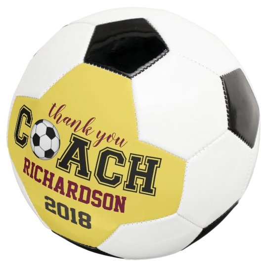 37b05cca1 Soccer ball unique custom thank you gift for coach