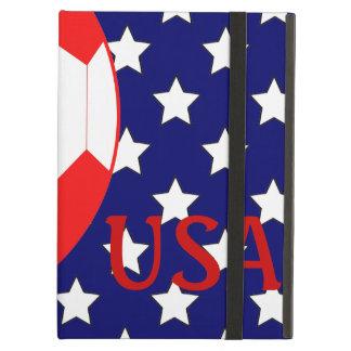 Soccer Ball USA Patriotic Theme iPad Air Covers