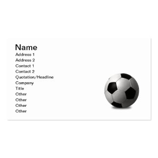 SOCCER BALL VECTOR ICON GRAPHICS BLACK WHITE SPORT BUSINESS CARD
