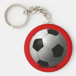 SOCCER BALL VECTOR ICON GRAPHICS BLACK WHITE SPORT KEYCHAIN