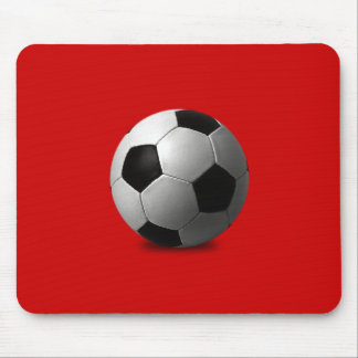 SOCCER BALL VECTOR ICON GRAPHICS BLACK WHITE SPORT MOUSE PAD