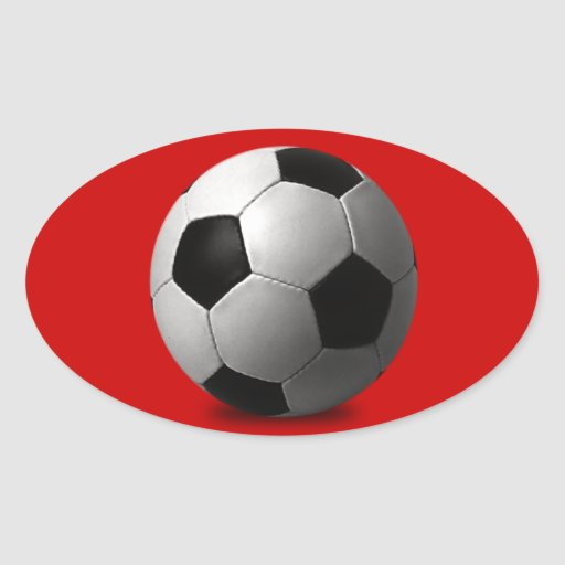 SOCCER BALL VECTOR ICON GRAPHICS BLACK WHITE SPORT OVAL STICKERS