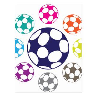Soccer Ball Vector Postcard