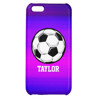 Soccer Ball; Vibrant Violet Blue and Magenta iPhone 5C Cover