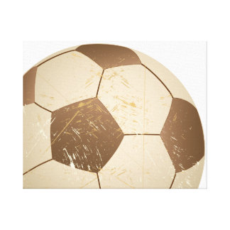 soccer ball vintage canvas print
