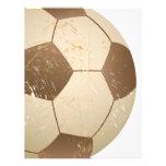 soccer ball vintage custom letterhead