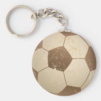 soccer ball vintage keychain