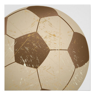 soccer ball vintage poster