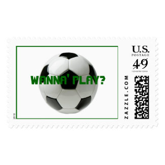 soccer ball, WANNA' PLAY? Stamps