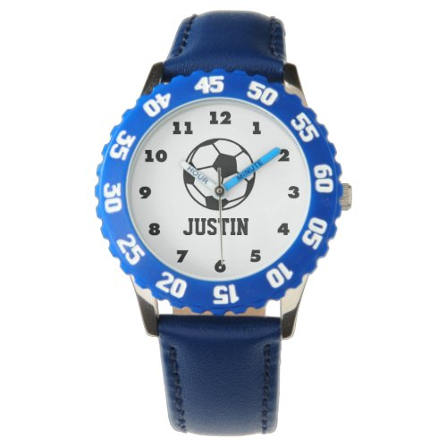 Soccer ball watch for kids with personalized name