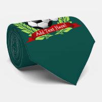 Soccer Ball Wearing a Santa Hat Christmas Tie