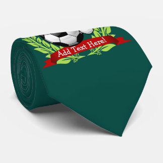 Soccer Ball Wearing a Santa Hat Christmas Tie