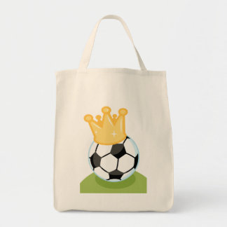 Soccer Ball Wearing Crown T-shirts and Gifts Tote Bags