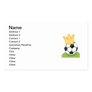 Soccer Ball Wearing Crown T-shirts and Gifts Double-Sided Standard Business Cards (Pack Of 100)